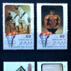 Sellos: OLIMPIADAS DE BARCELONA 1992 SERIE COMPLETA DE 4 SELLOS NUEVOS DE SAHARA OCCIDENTAL. Lote 193264757