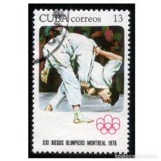 Timbres: CUBA 1976. MI 2140, YT 1935. DEPORTES. OLIMPIADA MONTREAL 76. JUDO. USADO. Lote 141436802