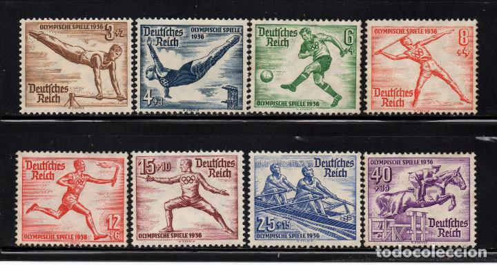 ALEMANIA IMPERIO 565/72** - AÑO 1936 - JUEGOS OLIMPICOS DE BERLIN (Sellos - Temáticas - Olimpiadas)