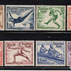 Sellos: ALEMANIA IMPERIO 565/72** - AÑO 1936 - JUEGOS OLIMPICOS DE BERLIN. Lote 142069222