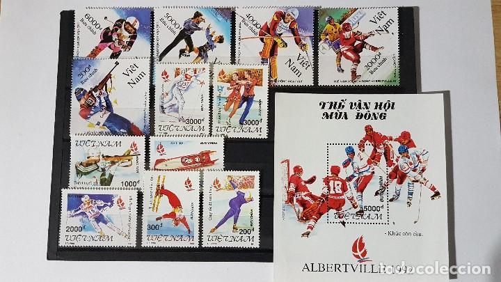 LOTE VIETNAM, ALBERTVILLE 1991 - 1992, EN PERFECTO ESTADO, TAL CUAL SE VEN. (Sellos - Temáticas - Olimpiadas)