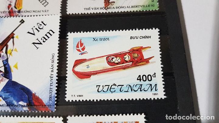 Sellos: LOTE VIETNAM, ALBERTVILLE 1991 - 1992, EN PERFECTO ESTADO, TAL CUAL SE VEN. - Foto 5 - 142808670