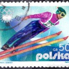 Sellos: 1976 - POLONIA - JUEGOS OLIMPICOS DE INVIERNO - INNSBRUCK AUSTRIA - SALTO - YVERT 2256. Lote 143859966