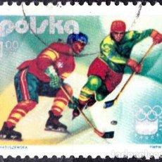 Sellos: 1976 - POLONIA - JUEGOS OLIMPICOS DE INVIERNO - INNSBRUCK AUSTRIA - HOCKEY HIELO - YVERT 2257. Lote 143860014