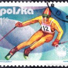 Sellos: 1976 - POLONIA - JUEGOS OLIMPICOS DE INVIERNO - INNSBRUCK AUSTRIA - SLALOM - YVERT 2258. Lote 143860074