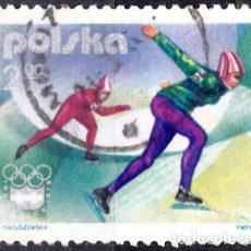 Sellos: 1976 - POLONIA - JUEGOS OLIMPICOS DE INVIERNO - INNSBRUCK AUSTRIA - PATINAJE VELOCIDAD - YVERT 2259. Lote 143860250