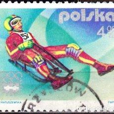Sellos: 1976 - POLONIA - JUEGOS OLIMPICOS DE INVIERNO - INNSBRUCK AUSTRIA - LUGE - YVERT 2260. Lote 143860406