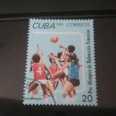 Sellos: SELLOS R. CUBA MTDOS/1984/PRE-OLIMPIADAS/BALONCESTO FEMENINO/DEPORTE/JUEGOS/ATLETAS/MUJERES. Lote 143875897