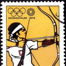 Sellos: 1972 - POLONIA - JUEGOS OLIMPICOS DE MUNICH - TIRO CON ARCO - YVERT 1996. Lote 144067754