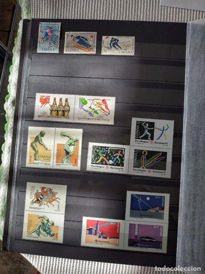 Sellos: ESPAÑA - JUEGOS OLIMPICOS Y PARALIMPICOS 33 SELLOS + 12 FACSIMILES - Foto 2 - 145968202