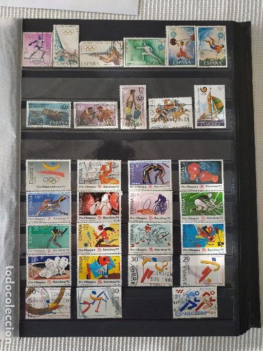 ESPAÑA - JUEGOS OLIMPICOS Y PARALIMPICOS 33 SELLOS + 12 FACSIMILES (Sellos - Temáticas - Olimpiadas)