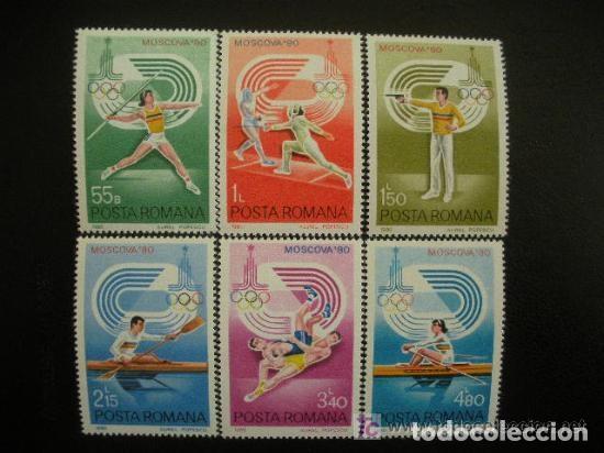 RUMANIA 1980 IVERT 3289/94 *** JUEGOS OLIMPICOS DE MOSCU - DEPORTES (Sellos - Temáticas - Olimpiadas)
