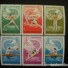 Sellos: RUMANIA 1980 IVERT 3289/94 *** JUEGOS OLIMPICOS DE MOSCU - DEPORTES. Lote 194290803
