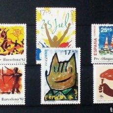 Sellos: OLIMPIADAS DE BARCELONA 1992 SERIE DE SELLOS NUEVOS DE ESPAÑA. Lote 147466518