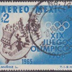Sellos: 1965 - MEXICO - JUEGOS OLIMPICOS 1968 - YVERT PA 263. Lote 151150738