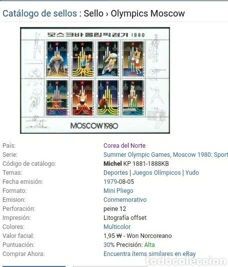 Sellos: HB Corea Norte mtda (DPKR)/1979/Juegos olimpiadas/Moscu,80/ciclismo/boxeo/atletismo/voleibol/judo/re - Foto 2 - 151527933