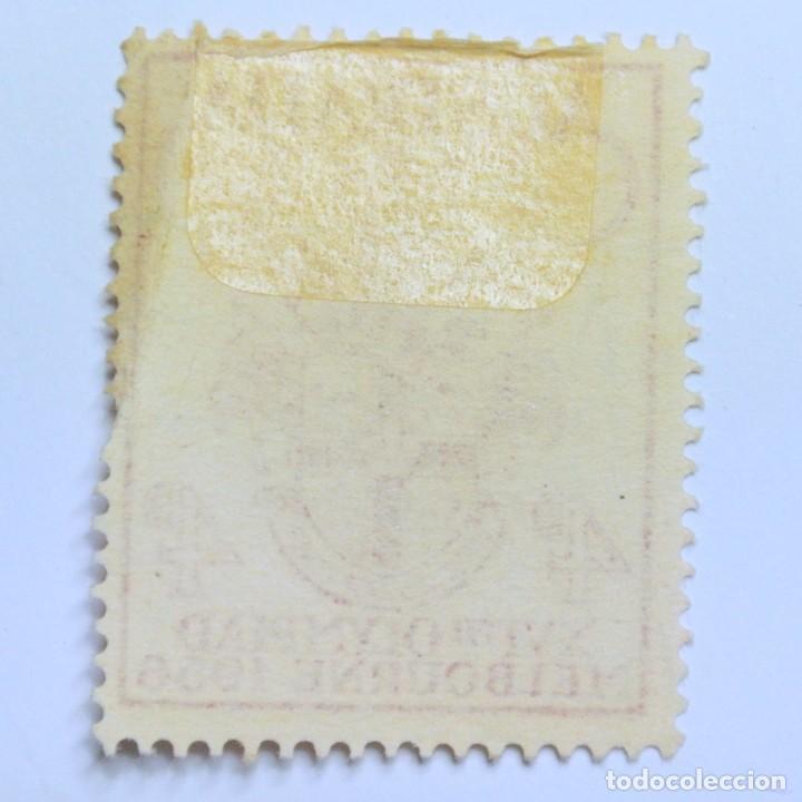 Sellos: Sello postal AUSTRALIA 1956, 4 d,OLIMPIADAS MELBOURNE 1956, CONMEMORATIVO, Usado - Foto 2 - 153340746