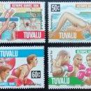 Sellos: 1996. DEPORTES. TUVALU. 698/701. NUEVO. JUEGOS OLÍMPICOS 1996.. Lote 153957434