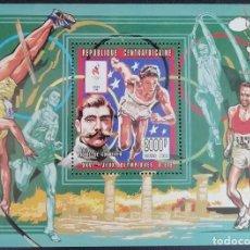 Sellos - 1996. Deportes. REP CENTROAFRICANA. HB 112 A. Atletismo. Juegos Olímpicos Atlanta. Nuevo. - 154104550