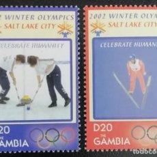 Sellos: 2002. DEPORTES. GAMBIA. 3721 / 3722. JUEGOS OLÍMPICOS SALT LAKE CITY. SERIE COMPLETA. NUEVO.. Lote 154153734