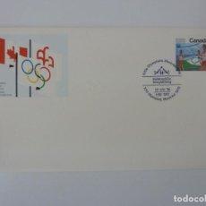 Sellos: SOBRE. OLIMPIADAS DE MONTREAL. CANADA. HALTEROFILIA. 1976. Lote 154325086