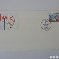 Sellos: SOBRE. OLIMPIADAS DE MONTREAL. CANADA. GIMNASIA. 1976. Lote 154325318