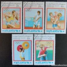 Sellos: 1996. DEPORTES. SAHARA OCCIDENTAL. JUEGOS OLÍMPICOS ATLANTA. SERIE COMPLETA. USADO.. Lote 155940406