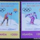 Sellos: 2002. DEPORTES. UGANDA. 2039 / 2040. JUEGOS OLÍMPICOS SALT LAKE CITY. SERIE COMPLETA. NUEVO.. Lote 155941502