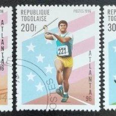 Sellos - 1996. Deportes. TOGO. 1434, 1435, 1436. Juegos Olímpicos Atlanta. Serie corta. Usado. - 155942762