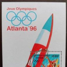 Sellos: 1996. DEPORTES. CAMBOYA. HB 119. JUEGOS OLÍMPICOS ATLANTA. WINDSURF. NUEVO.. Lote 157380982