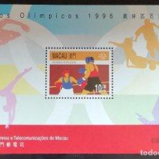 Sellos: 1996. DEPORTES. MACAO. HB 37. JUEGOS OLÍMPICOS ATLANTA. BOXEO. NUEVO.. Lote 159237610