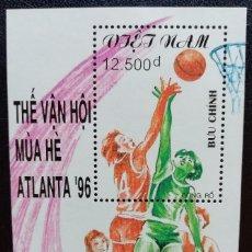 Sellos - 1995. Deportes. VIETNAM. HB 87. Pre-Juegos Olímpicos Atlanta. Baloncesto. Nuevo. - 159521326