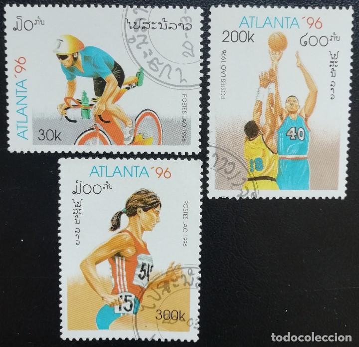 1996. DEPORTES. LAOS. 1207 / 12011. JUEGOS OLÍMPICOS ATLANTA. SERIE CORTA. USADO. (Sellos - Temáticas - Olimpiadas)
