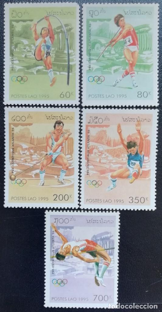 1995. DEPORTES. LAOS. 1173 / 1177. PRE-JUEGOS OLÍMPICOS ATLANTA. SERIE COMPLETA. NUEVO. (Sellos - Temáticas - Olimpiadas)