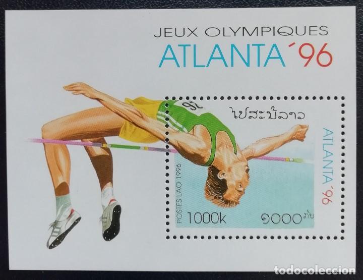 1996. DEPORTES. LAOS. HB 133. JUEGOS OLÍMPICOS ATLANTA. ATLETISMO. NUEVO. (Sellos - Temáticas - Olimpiadas)