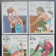 Sellos - 1990. Deportes. LAOS. 943 / 948. Pre-Juegos Olímpicos Barcelona. Serie corta. Usado. - 159657554