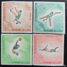 Sellos: 1968. DEPORTES. LAOS. 189 / 192. JUEGOS OLÍMPICOS MÉXICO. SERIE COMPLETA. NUEVO.. Lote 159666006