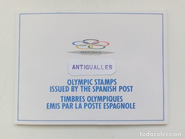 ALBUM DE SELLOS LOS ANGELES 84 EN CONMEMORACIÓN JUEGOS OLIMPICOS BARCELONA 92 (Sellos - Temáticas - Olimpiadas)