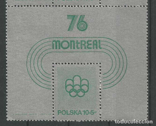Sellos: POLONIA - 4 SELLOS EN BLOQUE ESPECIAL DE MONTREAL 76 - SELLO EN SELLO - MIRE MIS OTROS LOTES - Foto 2 - 160735758