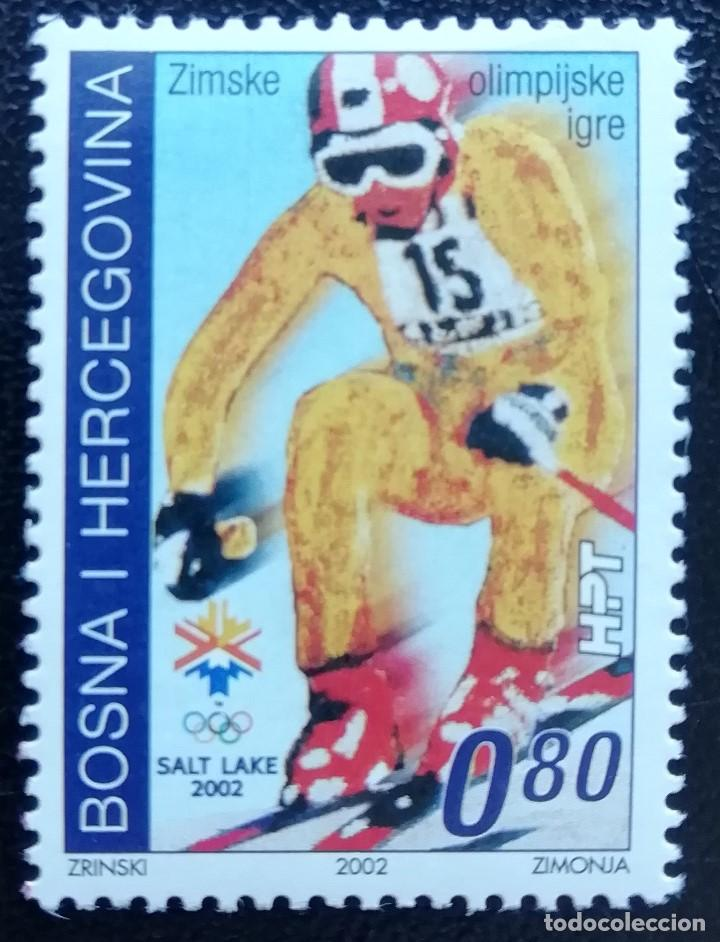 2002. DEPORTES. BOSNIA HERZEGOVINA. JUEGOS OLÍMPICOS SALT LAKE CITY. SERIE COMPLETA. NUEVO. (Sellos - Temáticas - Olimpiadas)