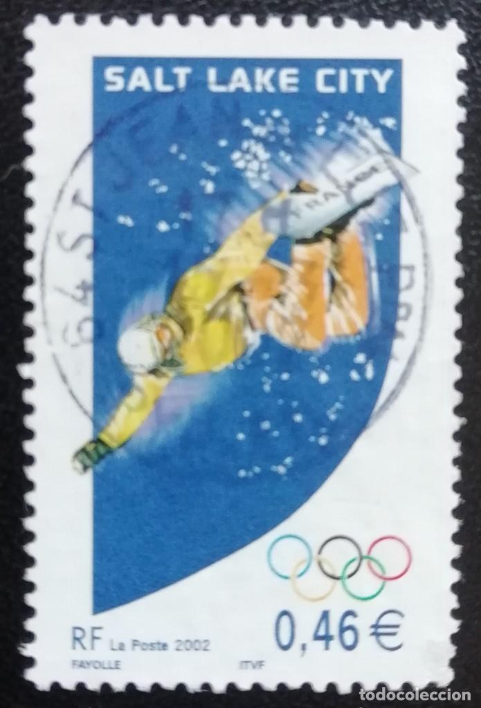 2002. DEPORTES. FRANCIA. 3460. JUEGOS OLÍMPICOS SALT LAKE CITY. SNOWBOARD. SERIE COMPLETA. USADO. (Sellos - Temáticas - Olimpiadas)