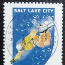 Sellos: 2002. DEPORTES. FRANCIA. 3460. JUEGOS OLÍMPICOS SALT LAKE CITY. SNOWBOARD. SERIE COMPLETA. USADO.. Lote 161708074