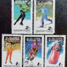 Sellos - 1987. Deportes. HUNGRÍA. 3135 / 3140. Pre-Juegos Olímpicos Calgary. Serie corta. Usado. - 162066010