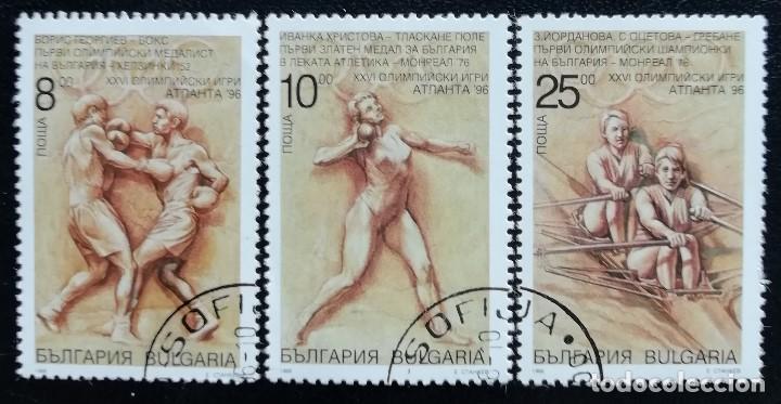 1996. DEPORTES. BULGARIA. 3674 / 3677. JUEGOS OLÍMPICOS ATLANTA. SERIE CORTA. USADO. (Sellos - Temáticas - Olimpiadas)