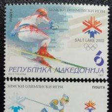 Briefmarken - 2002. Deportes. MACEDONIA. Juegos Olímpicos Salt Lake City. Esquí. Serie completa. Nuevo. - 162376946