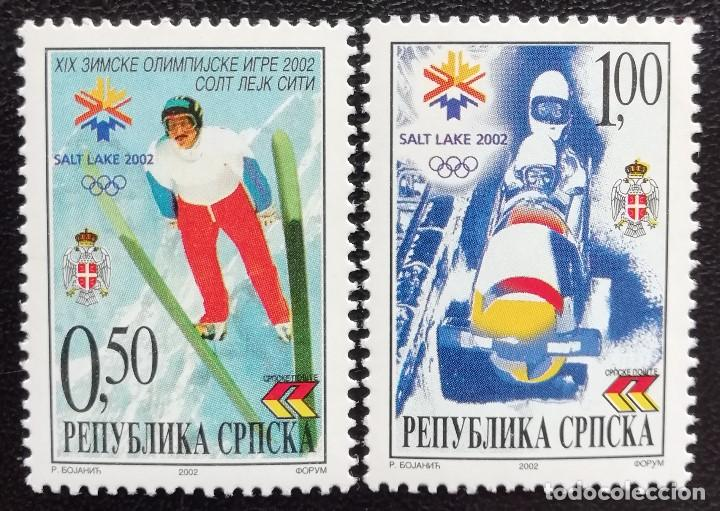 2002. DEPORTES. PALE, REP.SERBIA. JJ.OO SALT LAKE CITY. SALTOS SKI, BOBSLEIGH. SERIE COMPLETA. NUEVO (Sellos - Temáticas - Olimpiadas)