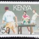 Sellos: 1991. DEPORTES. KENYA. 532. PRE-JUEGOS OLÍMPICOS BARCELONA. TENIS DE MESA. SERIE CORTA. NUEVO.. Lote 166914884