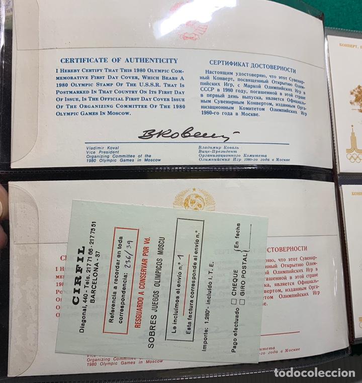 Sellos: COLECCIÓN 38 SOBRES PRIMER DÍA OLIMPIADAS MOSCÚ 1980 EN ALBÚM PARA LA EDICIÓN - Foto 2 - 167632050