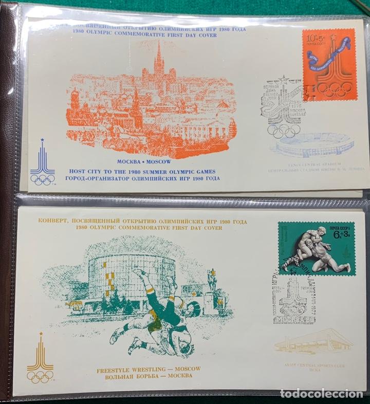 Sellos: COLECCIÓN 38 SOBRES PRIMER DÍA OLIMPIADAS MOSCÚ 1980 EN ALBÚM PARA LA EDICIÓN - Foto 4 - 167632050