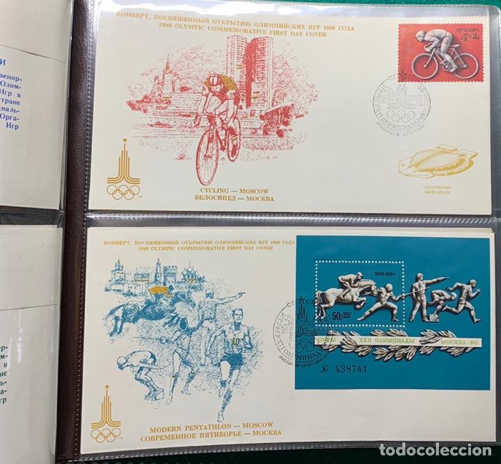 Sellos: COLECCIÓN 38 SOBRES PRIMER DÍA OLIMPIADAS MOSCÚ 1980 EN ALBÚM PARA LA EDICIÓN - Foto 5 - 167632050